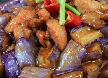 Chicken with Eggplant